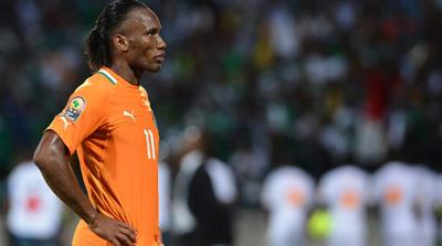 Les Elephants were eliminated from the Africa Cup of Nations on Sunday, losing 2-1 to Nigeria in the Rustenburg quarter-final, ending Drogba's unsuccessful quest for a title with his national side [AFP]