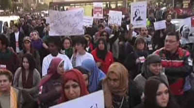 Egyptians protest against sexual violence