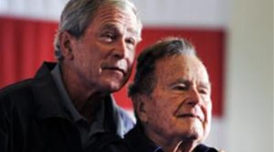 A spokesman for the elder ex-president Bush said there is a criminal investigation underway [Reuters]