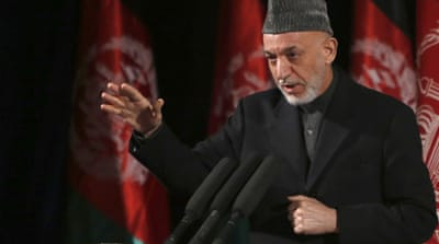 Karzai made his comments during a nationally televised speech about the state of Afghan women [EPA]