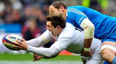 Down to the wire: England's win sets up a Six Nations championship decider against Wales in Cardiff next Saturday [EPA]