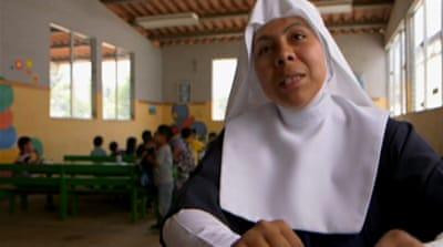 Guatemala children touched by nuns' grace