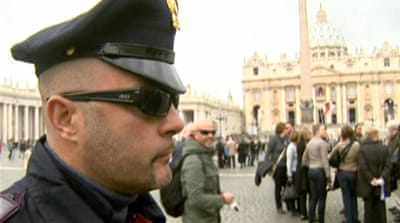 Rome ups security as world awaits new Pope