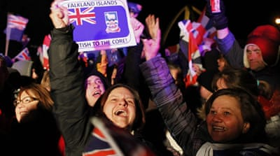 Islanders celebrated into the night after results were announced on Monday [Reuters]
