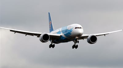 All of the 50 Boeing 787 planes in service were grounded globally after a series of overheating problems [Reuters]