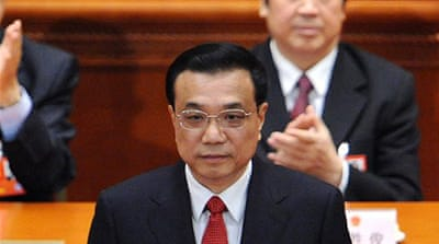 Li Keqiang named as China's prime minister
