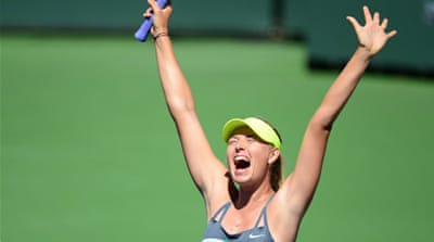 The Russian took one hour 21 minute to dismantle Wozniacki, breaking her twice in each set [AFP]