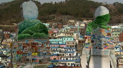 South Korea slum revamped with arts