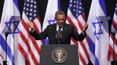Obama urges Israeli-Palestinian peace talks