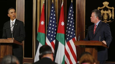 Obama vows aid for Syrian refugees in Jordan