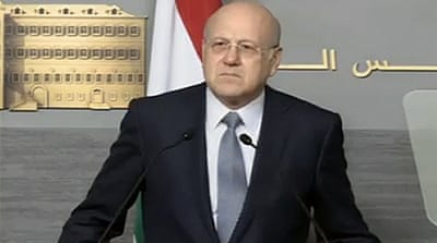 During his two years in office Mikati has sought to insulate his country from the civil war in neighbouring Syria [EPA]