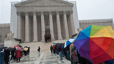 In June 2013 the US Supreme Court struck down a law prohibiting federal recognition of same-sex marriages [AFP]