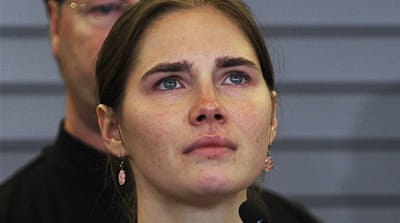 Knox and former boyfriend Sollecito were released after serving four years in prison for killing Kercher [AFP]