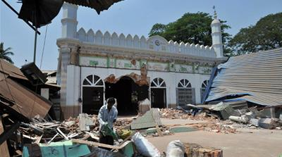 Buddhists reportedly attacked houses, shops and religious buildings belonging to Muslims in a number of towns [AFP]