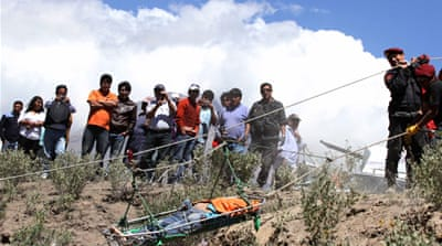 Rescue efforts were hampered by the steep cliff and rocky terrain [Reuters]