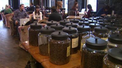 Moscow's coffee culture stirs up crowds