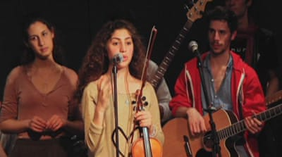 Band tries to bridge Israeli-Palestinian gap