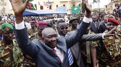 Djotodia toppled President Francois Bozize after leading thousands of Seleka rebel fighters into Bangui [Reuters]