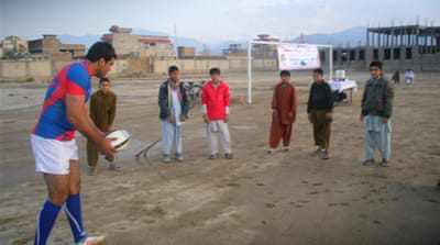 The Paghman rugby team, the first club team in Afghanistan [Asad Ziar]