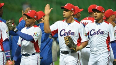 Jose Abreu hit a grand slam to lead Cuba to a demoralising victory over China in Group A [AFP]