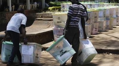 Though voting day passed off peacefully, many violations of electoral procedure were observed nationwide [AFP]