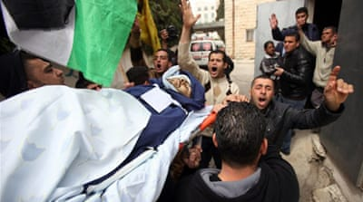 Mohammad Asfour was shot while protesting the death of a Palestinian in an Israeli prison [AFP]
