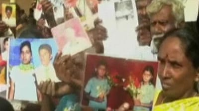 Sri Lankans search for missing relatives
