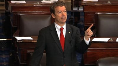 Rand Paul filibusters the domestic drone