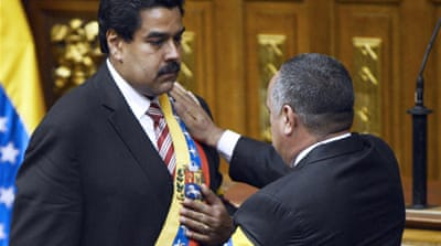 Maduro sworn in as Venezuela acting president