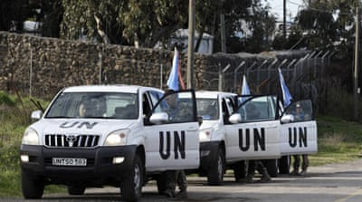 UN peacekeepers abducted near Syria border