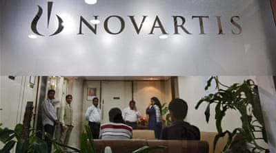 Novartis had challenged the Indian government to demand protection against companies copying its drugs [Reuters]