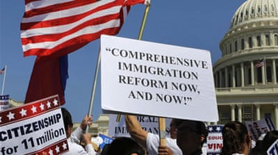 Thousands rally for US immigration reform
