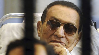 Many Egyptians called for Mubarak to be put back in jail after he appeared to be in better health [EPA]