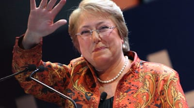 Bachelet conceded many issues were left unsolved during her presidency, key among them education [EPA]