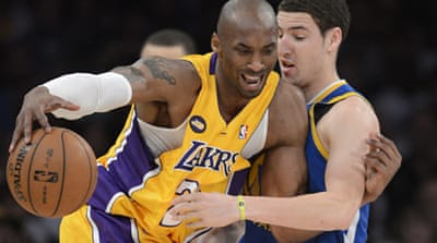 Bryant, the fourth leading scorer in NBA history, sustained the injury late in the Lakers' win over the Golden State Warriors on Friday [AFP]