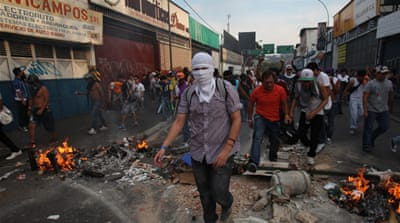 Students clash with police in Venezuela