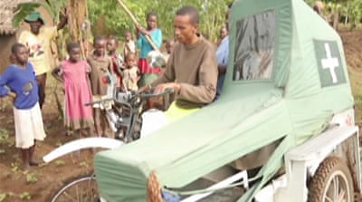 Motorbike ambulances save lives in Uganda