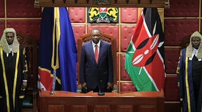 Kenya's Kenyatta pledges progress