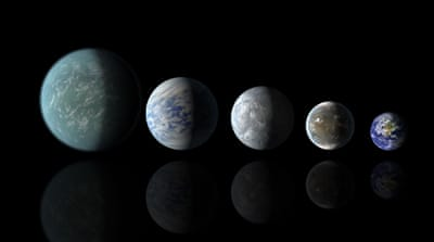 Relative sizes of Kepler habitable zone planets compared to Earth as shown in this artist's rendition [Reuters]