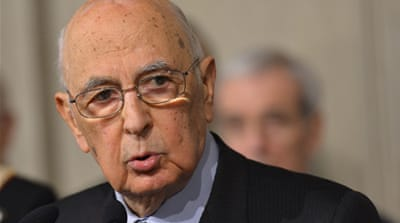 Italy re-elects Napolitano as president