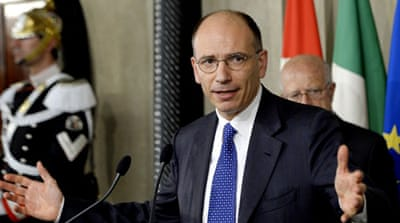 Centre-left's Letta named Italian PM
