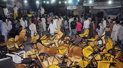 Secular political parties were once again the target of Saturday's bomb explosions in Karachi [AFP]