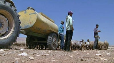 West Bank farmers facing water shortage