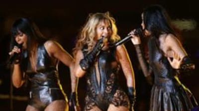 Some feminists defended the outfit Beyonce wore during the Super Bowl halftime show after people began complaining that it looked too much like something one might find in a sex shop [AP]