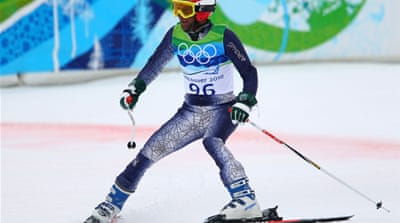 Mohammad Abbas, pictured above, became the first Pakistani skier to feature in the giant slalom in Vancouver's 2010 Games [GALLO/GETTY]