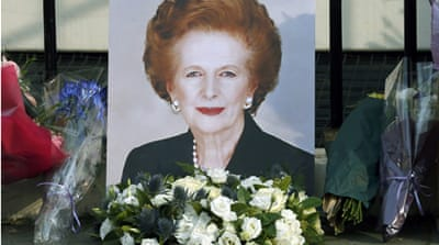 Flags have been lowered to half-mast at Britain's parliament to mark Margaret Thatcher's passing [Reuters]