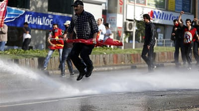 Thick clouds of gas hit even those staying at home with windows closed, Turkish media reported  [AFP]