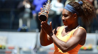 The victory marked Williams' fourth tournament success of 2013 but only her seventh clay title since turning professional in 1995 [AFP]