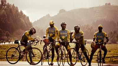 Adrien Niyonshuti is leading the race to change Rwanda's cycles of division [Team Rwanda]