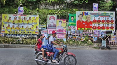 In pictures: Tensions before Philippine polls